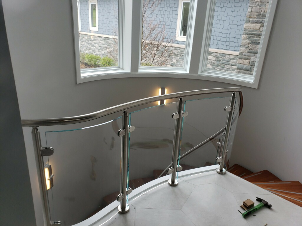 Glass Rail Staircase